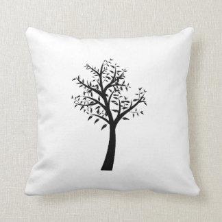 diseño simple eco.png del árbol negro almohadas