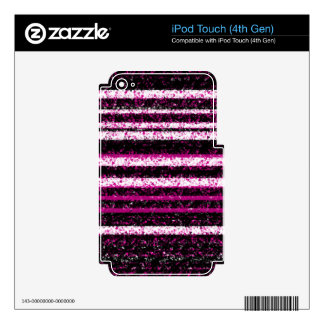 Diseño simple magenta iPod touch 4G skin