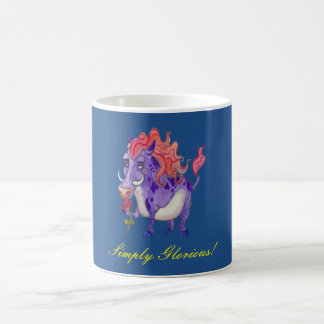 Diseño simplemente glorioso de la acuarela del taza