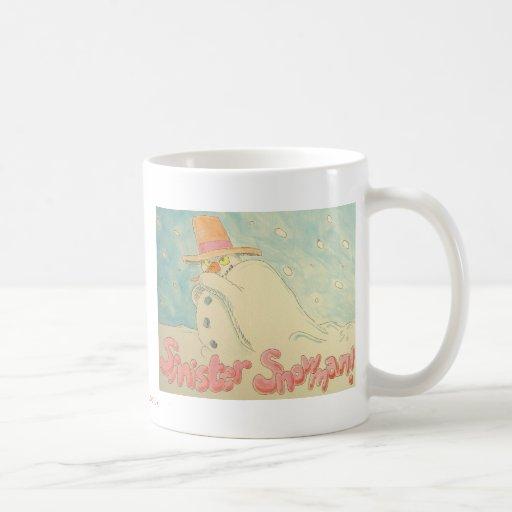 Diseño siniestro del navidad del muñeco de nieve taza de café