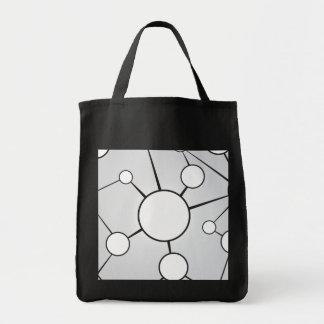 Diseño social del diagrama de los círculos bolsa de mano