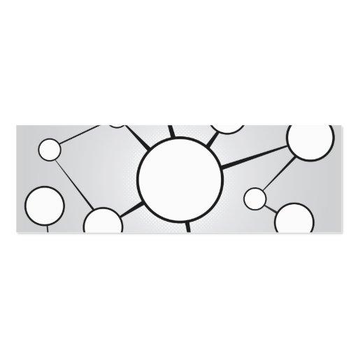 Diseño social del diagrama de los círculos tarjeta de visita