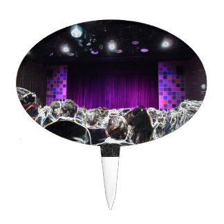 Diseño solarized etapa púrpura del teatro palillos de tarta