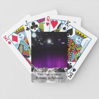 Diseño solarized etapa púrpura del teatro cartas de juego