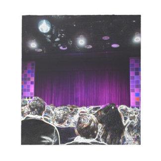 Diseño solarized etapa púrpura del teatro blocs de notas
