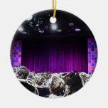 Diseño solarized etapa púrpura del teatro ornamento para arbol de navidad
