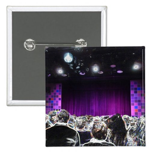 Diseño solarized etapa púrpura del teatro pins