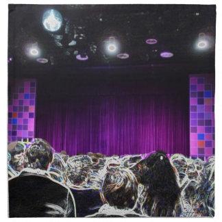 Diseño solarized etapa púrpura del teatro servilletas de papel