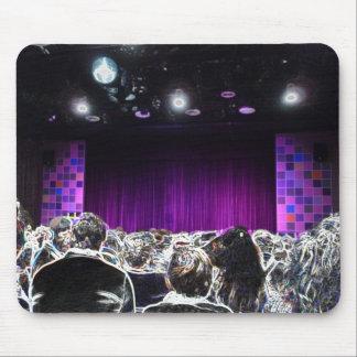 Diseño solarized etapa púrpura del teatro alfombrilla de ratón