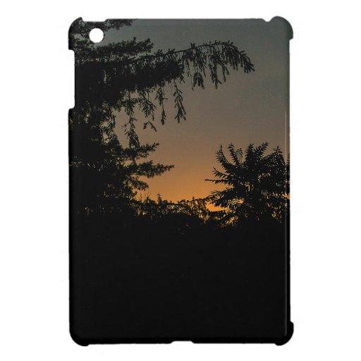 Diseño soñador de la puesta del sol