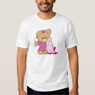diseño soñoliento del oso de peluche del chica de  playeras