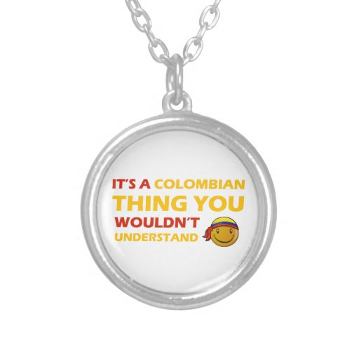 Diseño sonriente colombiano collares