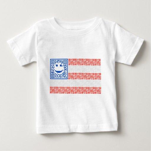 Diseño sonriente del código de la bandera QR de la Playera De Bebé