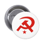 Diseño soviético del martillo y de la hoz pins