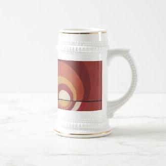Diseño Stein de los círculos concéntricos Jarra De Cerveza