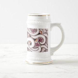 Diseño Stein del extracto de las violetas Jarra De Cerveza