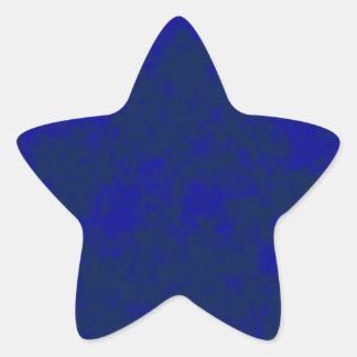 Diseño suave del Grunge Blue2 Calcomanías Forma De Estrellaes Personalizadas