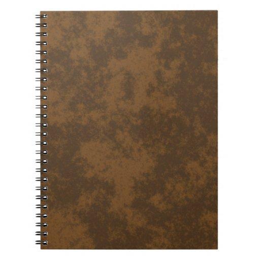 Diseño suave del Grunge Brown1 Libreta Espiral