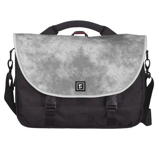 Diseño suave gris del Grunge Bolsas Para Portatil