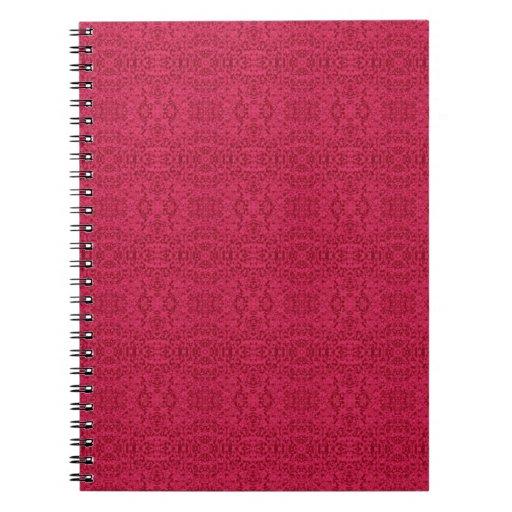 Diseño subió Victorian del papel pintado Libro De Apuntes