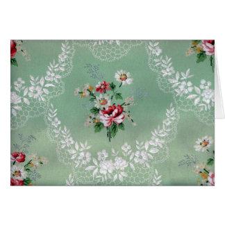 Diseño subió vintage del papel pintado del ramo tarjeta de felicitación