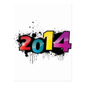 Diseño subterráneo del Año Nuevo. 2014 Postal