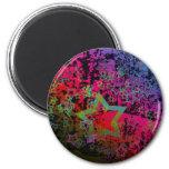 Diseño sucio colorido adaptable de la estrella imán para frigorifico