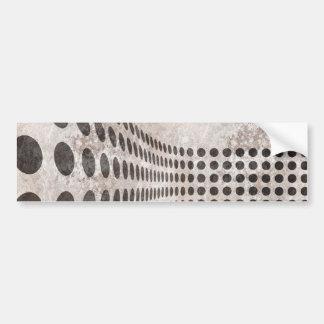 Diseño sucio de los puntos etiqueta de parachoque
