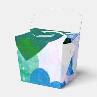 Diseño sucio verde y azul fabuloso de los cajas para regalos de boda