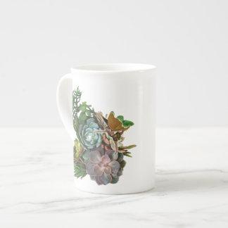 Diseño suculento del jardín taza de china