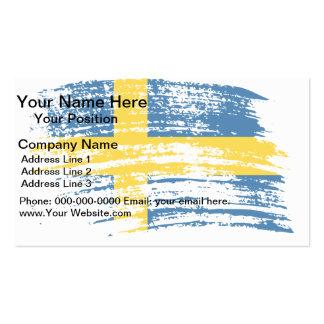 Diseño sueco fresco de la bandera plantillas de tarjeta de negocio