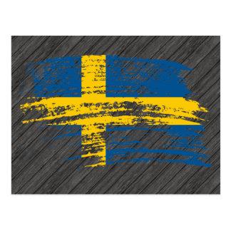 Diseño sueco fresco de la bandera tarjetas postales