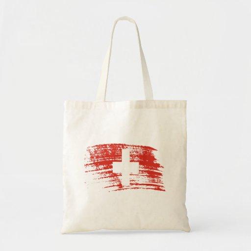 Diseño suizo fresco de la bandera bolsas de mano