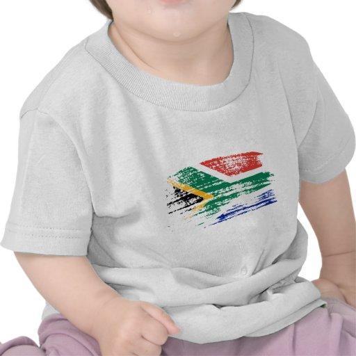 Diseño surafricano fresco de la bandera camisetas