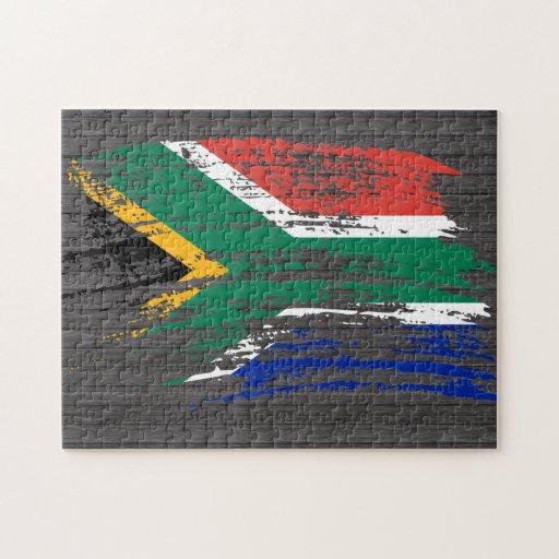 Diseño surafricano fresco de la bandera rompecabezas