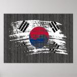 Diseño surcoreano fresco de la bandera posters