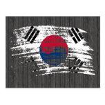 Diseño surcoreano fresco de la bandera tarjeta postal