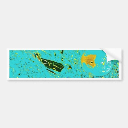 Diseño surrealista de los pescados de la rana del etiqueta de parachoque