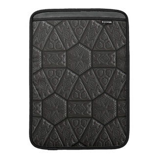 Diseño tallado extranjero negro fundas macbook air