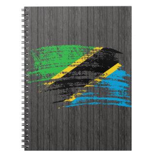 Diseño tanzano fresco de la bandera cuadernos