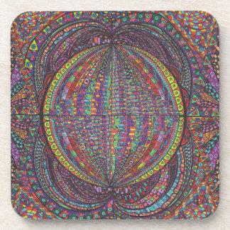 Diseño tejido mano posavaso