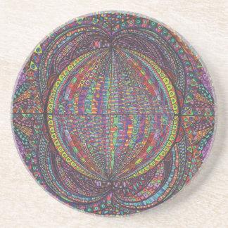 Diseño tejido mano posavasos de arenisca