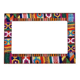 Diseño tejido tribal de la materia textil marcos magneticos