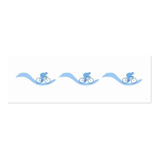 Diseño temático de ciclo elegante en azul plantilla de tarjeta personal