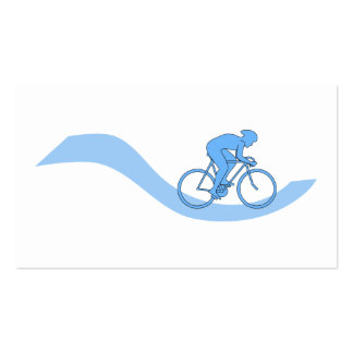 Diseño temático de ciclo elegante en azul tarjetas de visita