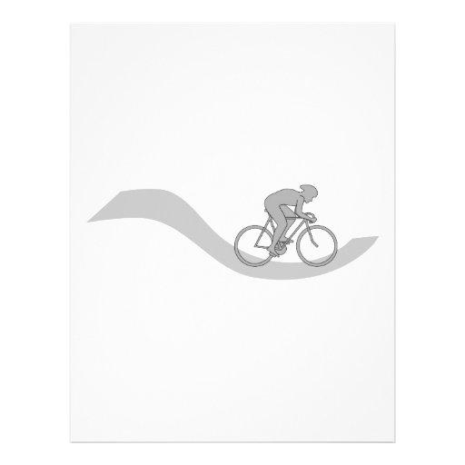 Diseño temático de ciclo elegante en gris tarjetones