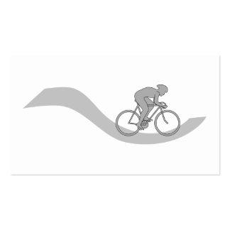 Diseño temático de ciclo elegante en gris tarjetas de visita