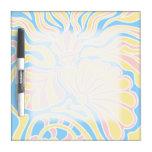 Diseño temático de la playa en colores en colores  tableros blancos