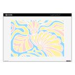 Diseño temático de la playa en colores en colores  calcomanía para portátil