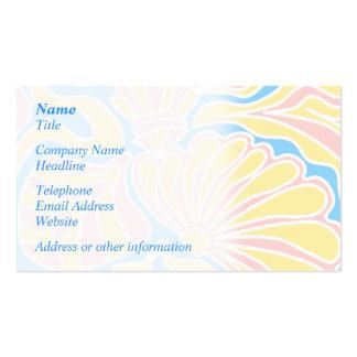 Diseño temático de la playa en colores en colores tarjetas de visita